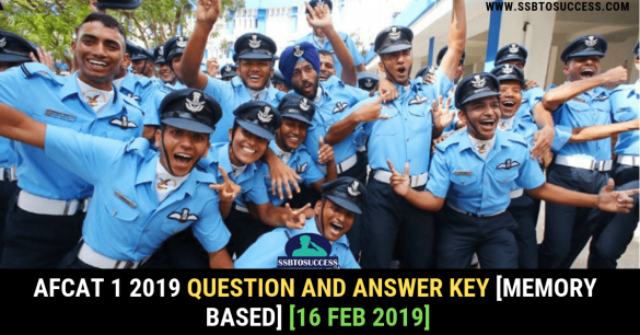AFCAT 1 2019 Question and Answer