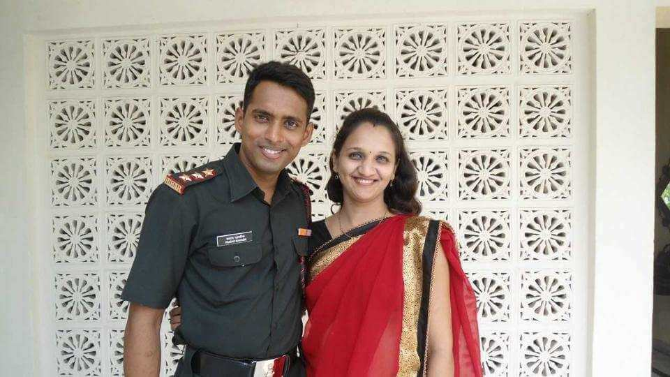 Major Prasad Mahadik with Gauri Mahadik