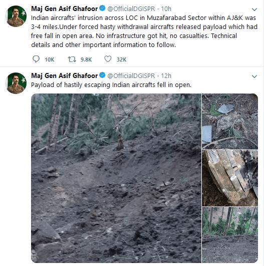 Maj General Asif Gharoof Tweet
