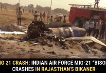 """MiG 21 crash: Indian Air Force MiG-21 """"Bison"""" crashes in Rajasthan's Bikaner"""