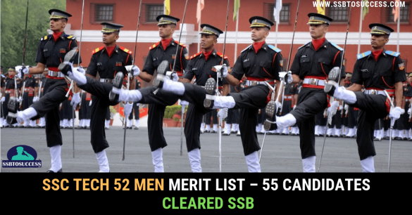 SSC Tech 52 Merit List Men