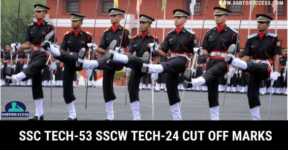 SSC (Tech) 53 Cutoff Marks