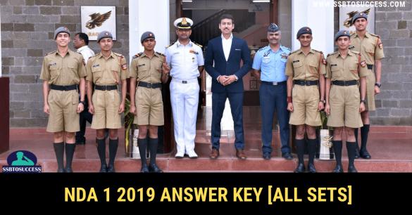 NDA 1 2019 Answer Key