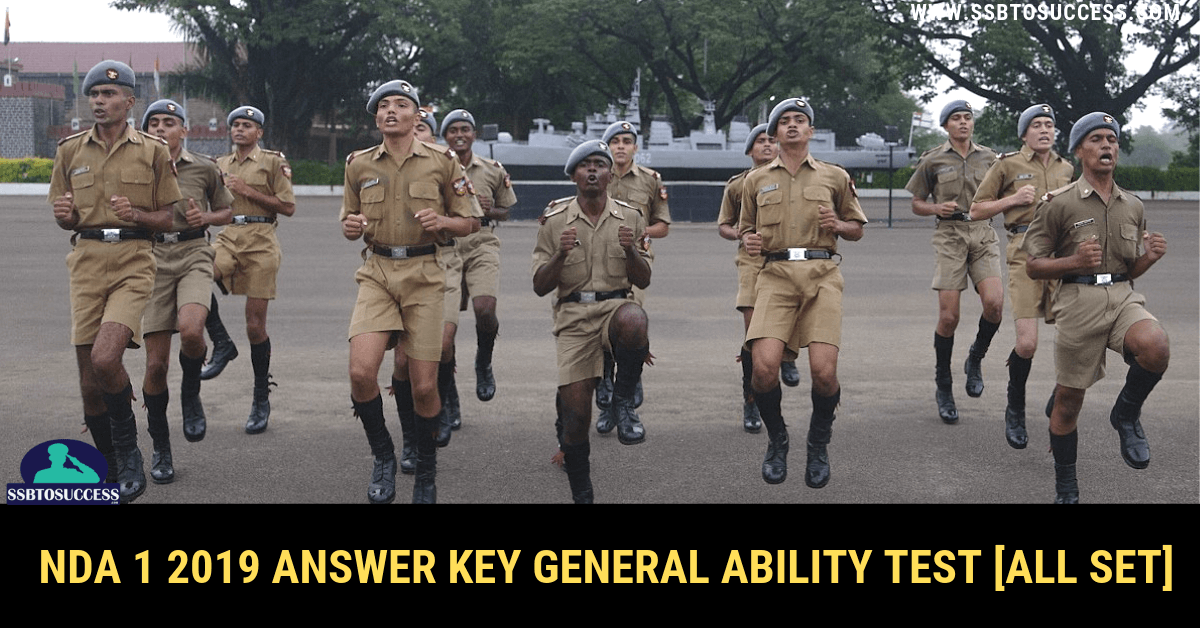 NDA 1 2019 Answer Key General Ability Test [All SET]