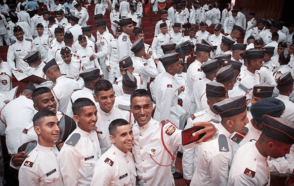 NDA Passing Out Parade 2019 Photo - Cadets Taking Selfie