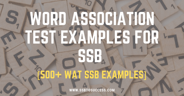 Word Association Test Examples