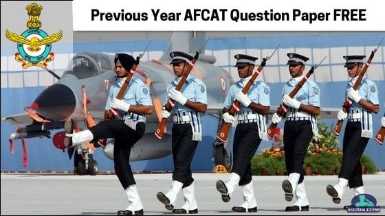 Previous Year AFCAT Question Paper - Free PDF Download