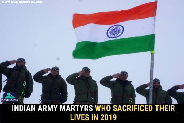 Indian Army Martyrs List 2019