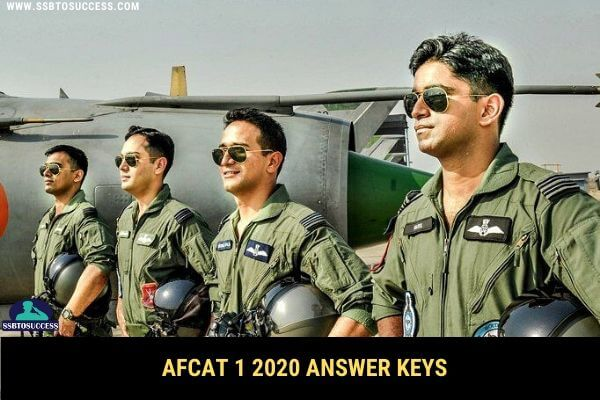 AFCAT 1 2020 Answer Key