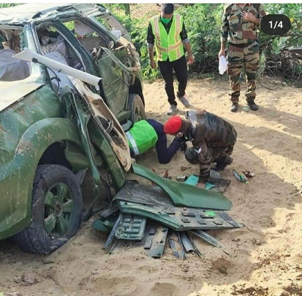 Indian army officer road accident