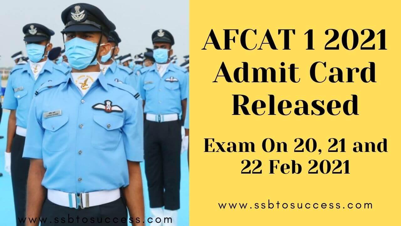 AFCAT 1 2021 Exam Date