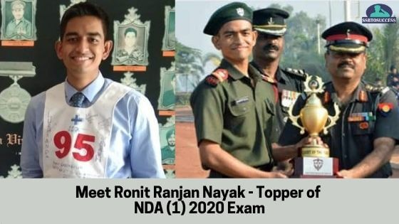 Meet Ronit Ranjan Nayak - Topper of NDA (1) 2020 Exam