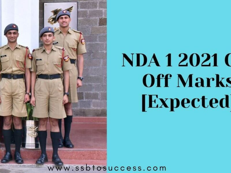 NDA 1 2021 Cut off Marks