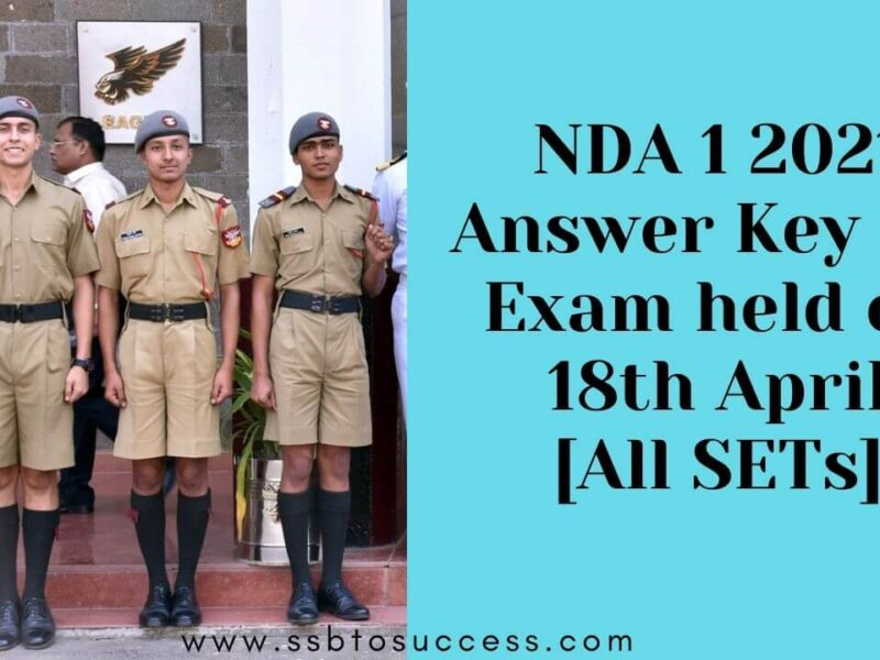 NDA 1 2021 Answer Key
