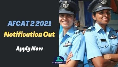 AFCAT 2 2021 Notification Out
