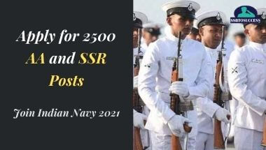 Join Indian Navy 2021: Apply for 2500 AA and SSR Posts