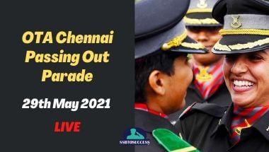 OTA Chennai Passing Out Parade 29th May 2021 - LIVE