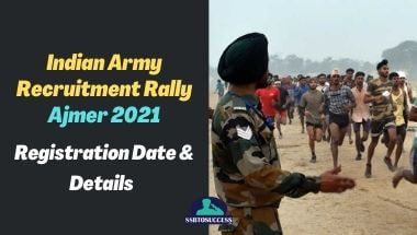 Indian Army Recruitment Rally Ajmer 2021: Registration Date & Details