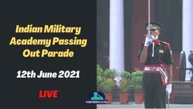 Indian Military Academy Passing Out Parade 12th June 2021