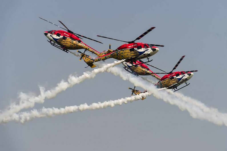 Indian Air Force (IAF) Helicopter Aerobatic Team 'Sarang'